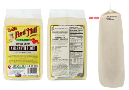 Bob's Red Mill amaranth flour recall