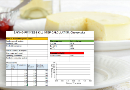 AIB International cheesecake kill step calculator