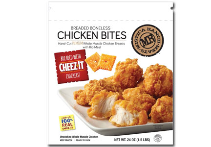 Mistica Foods Cheez-It chicken breast bites