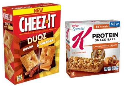 Cheez-It Duoz and Special K protein snack bars, Kellogg