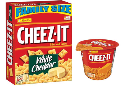 Cheez-It single-serve and family size