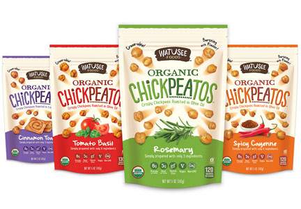 Chickpeatos chickpea snacks, plant protein