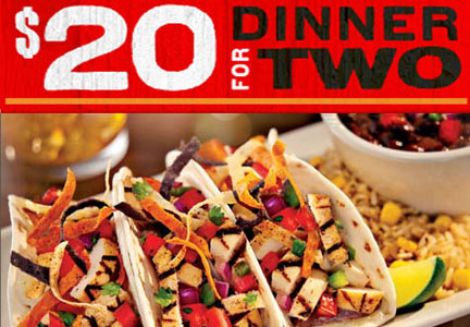 Chili's 2 for $20 deal