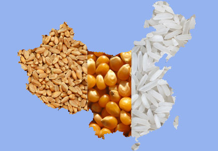 China's grains - wheat, corn, rice