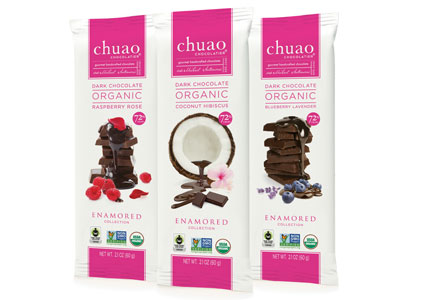 Chuao Enamored collection chocolate bars