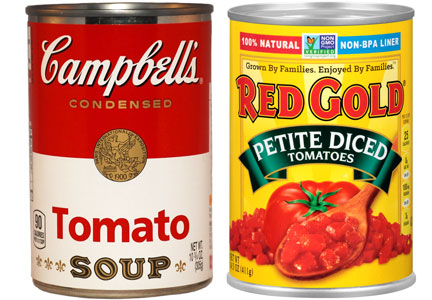 Campbell Soup, Red Gold cans with no BPA