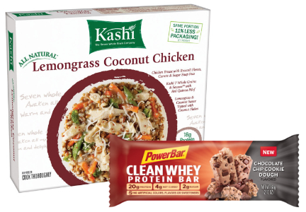 Clean label frozen meal and snack bar