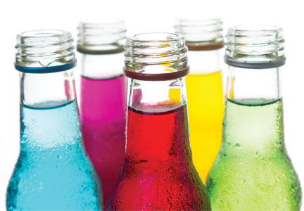 Colorful beverages