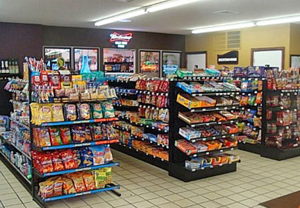 Inside a convenience store