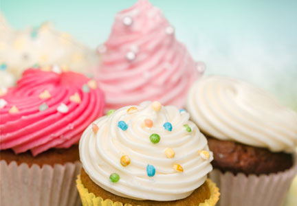 Cupcakes, sweet baked goods