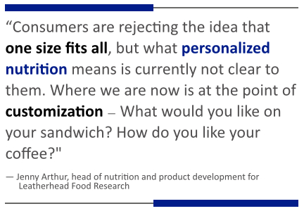 Personalized nutrition quote
