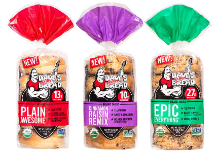 Flowers Foods Dave's Killer Bread brand breakfast products