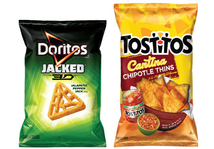 Dortios Jacked 3D, Tostitos Cantina Thins