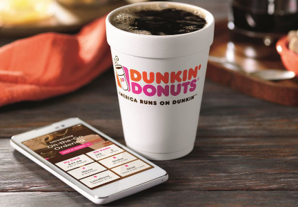 Dunkin' Donuts on-the-go mobile ordering