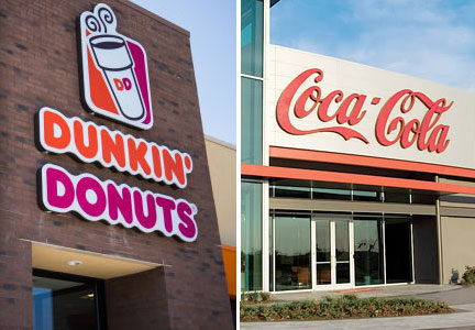 Dunkin' Donuts and Coca-Cola