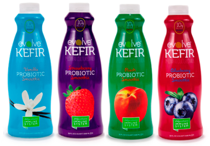 Evolve Kefir bottled probiotic smoothie