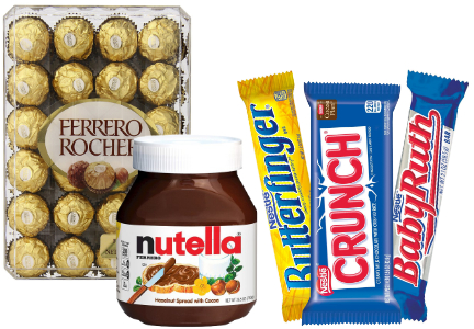 Ferrero and Nestle confectionery
