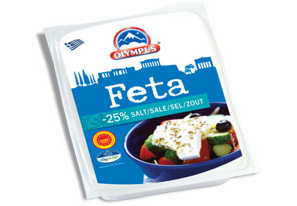 Feta cheese with less sodium