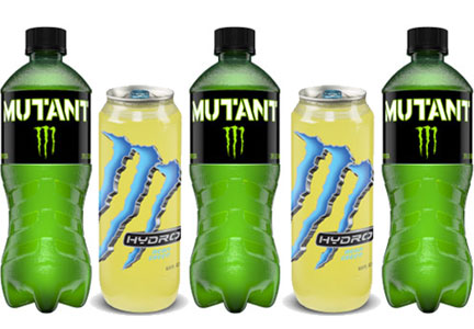 Monster Mutant and Hydro, functional foods