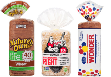 Flowers Foods bread brands - Nature's Own, Dave's Killer Bread, Wonder Bread