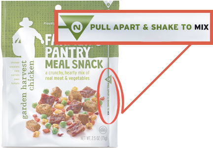 Farmer's Pantry Meal Snack packaging