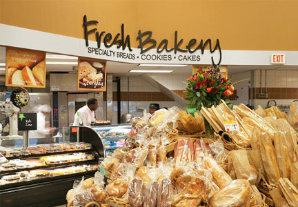 Bakery section in supermarket