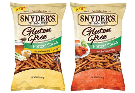 Snyder's of Hanover gluten-free flavored pretzel sticks