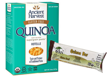 Gluten-free products featuring quinoa