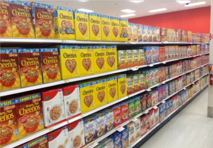 General Mills cereal aisle