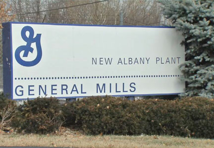 General Mills Pillsbury plant in New Albany