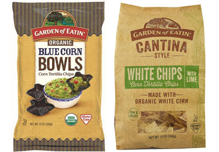 Garden of Eatin tortilla chip bowls, cantina chips