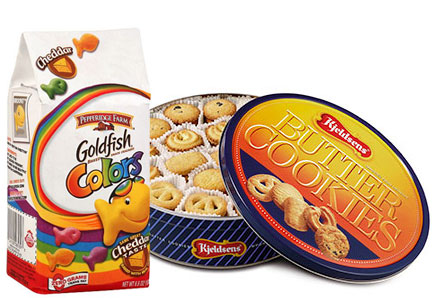 Goldfish crackers and Kelsen cookies, Campbell Soup Co.