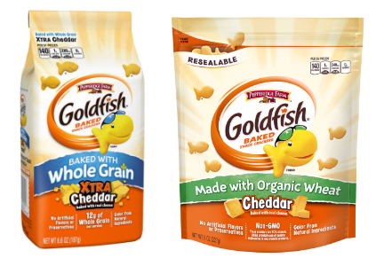 Goldfish whole grain, organic, Pepperidge Farm, Campbell Soup