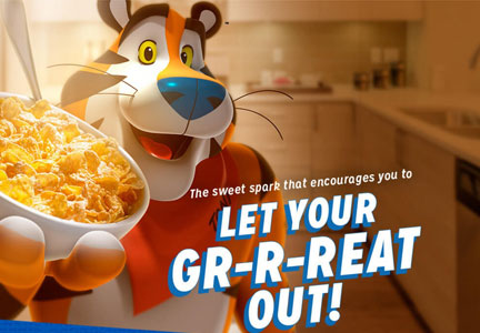 Kellogg 'Let your gr-r-eat out!' campaign