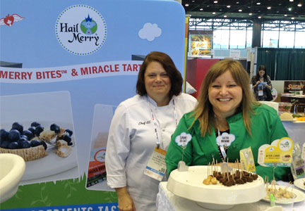 Alison Brushaber (left), chief product officer of Hail Merry, with Sarah Palisi Chapin, chief executive officer, at the N.R.A. show