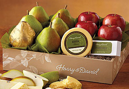 Harry & David organic fruit box, 1-800-Flowers.com