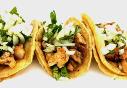 Mini tacos, regional Hispanic snacks