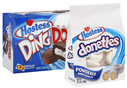 Hostess snack cakes and donuts