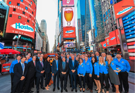 Hostess Execs Ring Bell At Nasdaq Stock Market Bakingbusiness