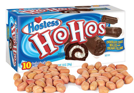 Hostess Ho Hos with peanuts
