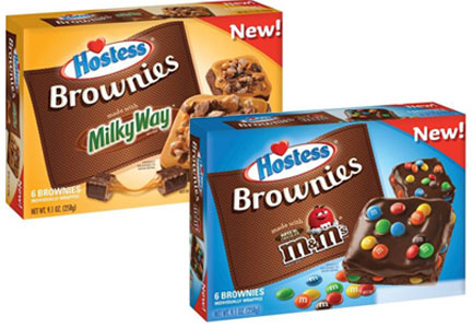 Hostess Sweet Shop Brownies, Milky Way and M&Ms