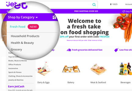 Jet.com grocery shopping