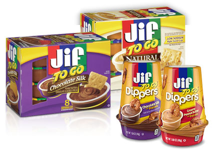 Smucker's Jif To Go and Jif Dippers