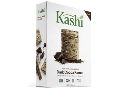 Kashi Dark Cocoa Karma Shredded Wheat Biscuits is the first product to earn the QAI Certified Transitional mark.