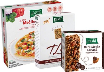 Declining Kashi products - pizza, nutrition bars, crackers, Kellogg