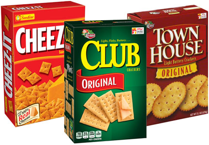 Kellogg crackers - Cheez-It, Club, Town House