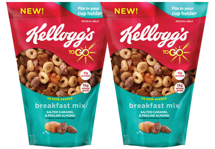Kellogg's To Go breakfast mix snack pouches