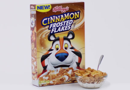 Kellogg Cinnamon Frosted Flakes cereal