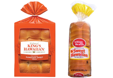 King's Hawaiian and Pan-O-Gold sweet Hawaiian rolls packaging lawsuit