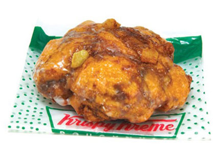 Krispy Kreme apple fritter